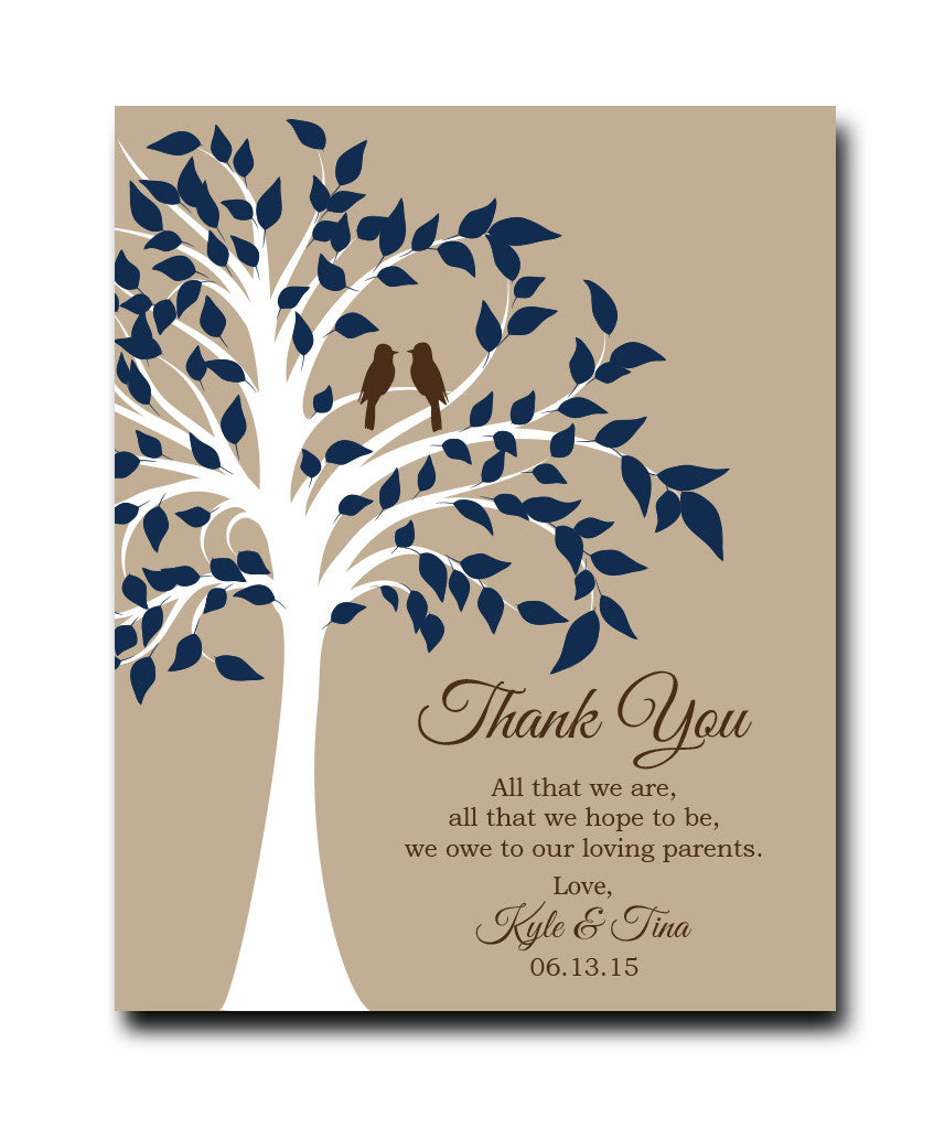 Parent Thank You Gift Print