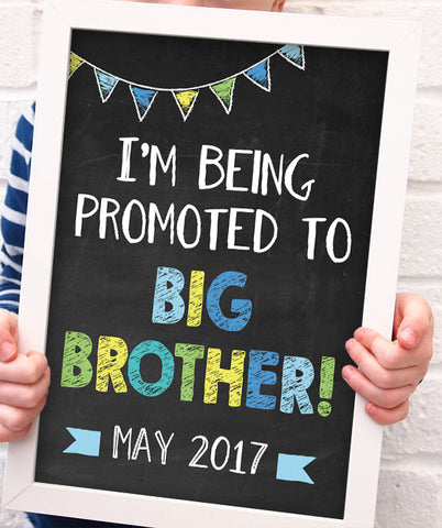 Sibling Pregnancy Announcement Print - Hypolita Co.