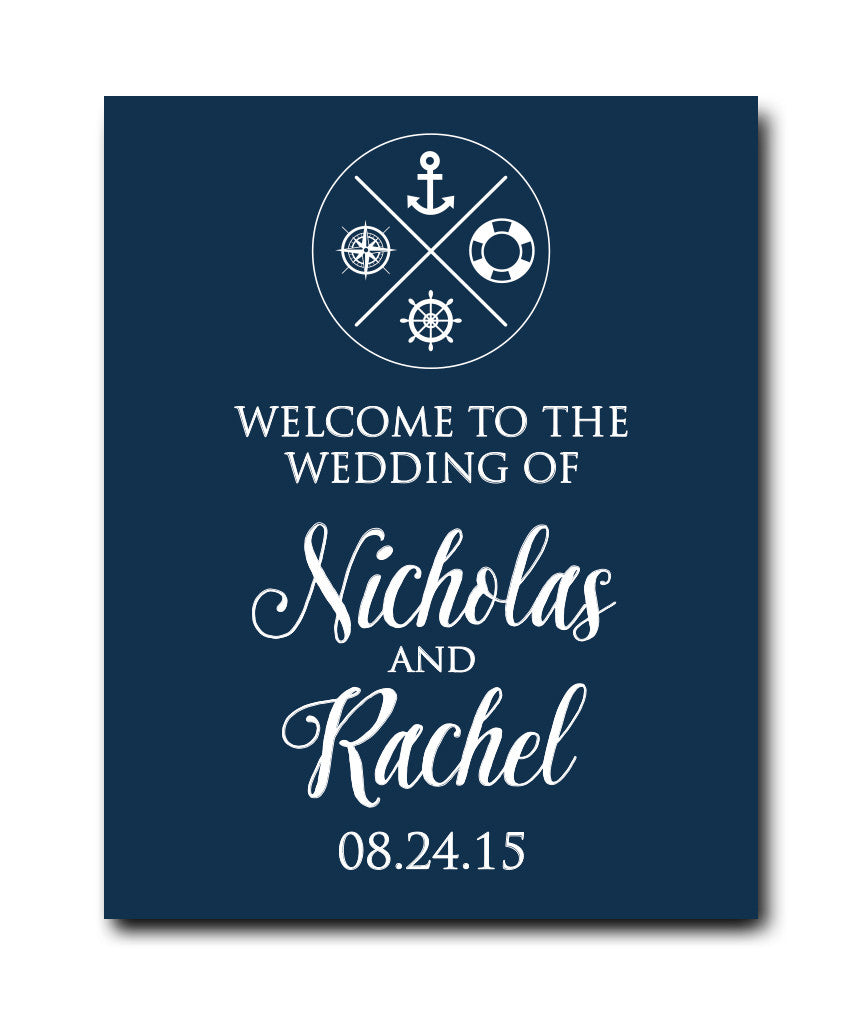 Nautical Wedding Welcome Print - Hypolita Co.