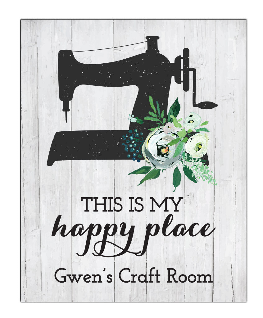 Happy Place Sewing Print - Hypolita Co.