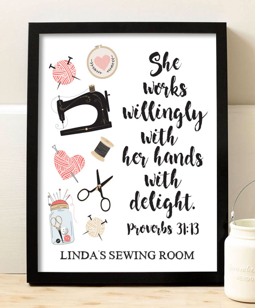 Sewing Proverbs Print - Hypolita Co.