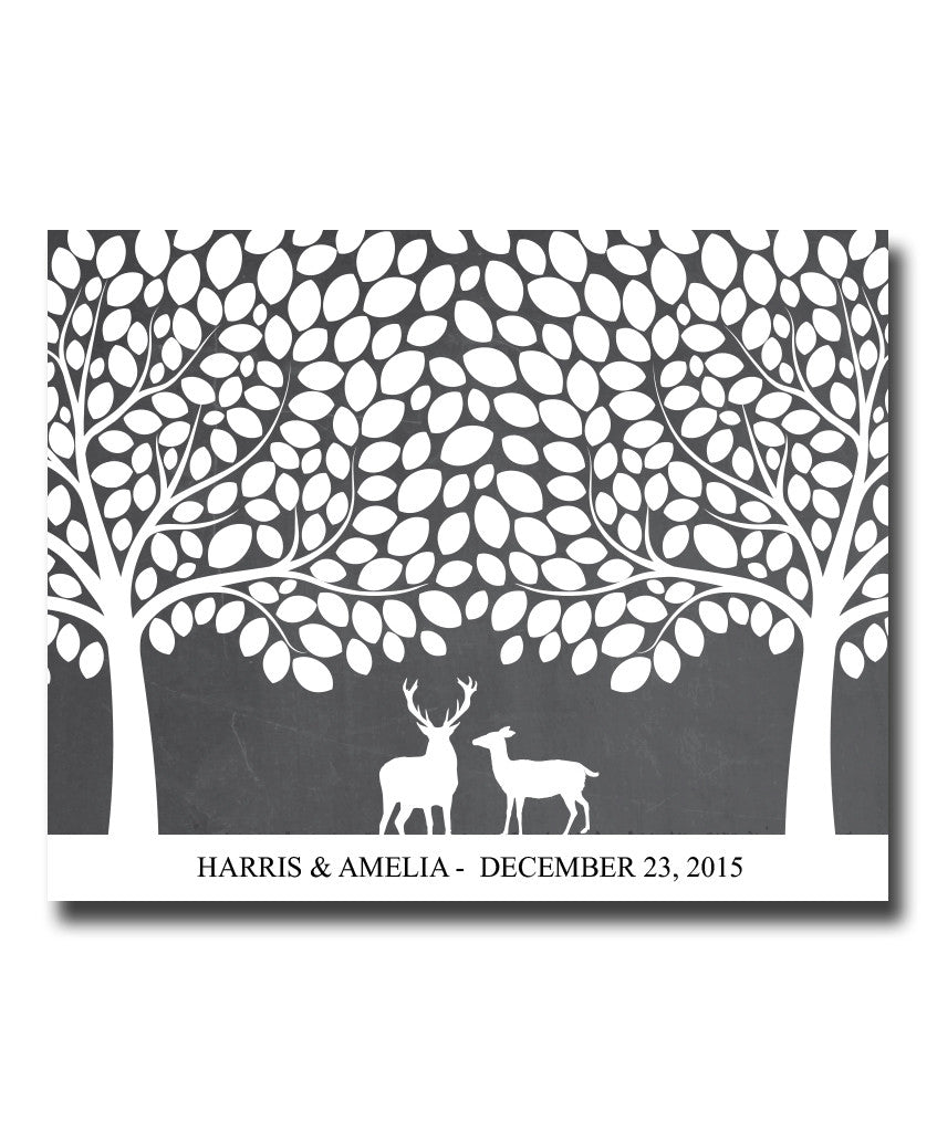 Wedding Signature Tree Print - Hypolita Co.