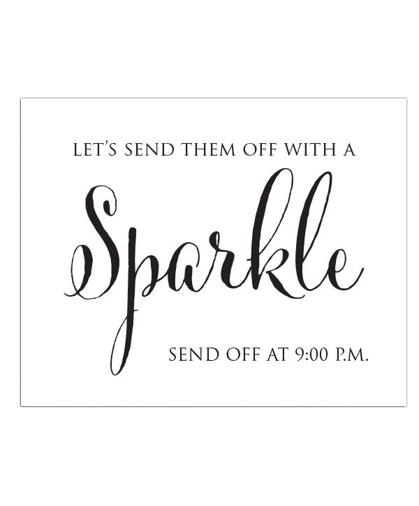 Sparkler Send Off Print Print - Hypolita Co.