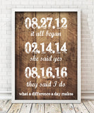 Special Date Wood Print - Hypolita Co.