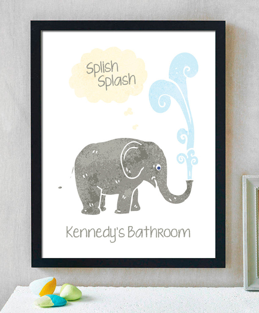 Splish Splash Bathroom Print - Hypolita Co.