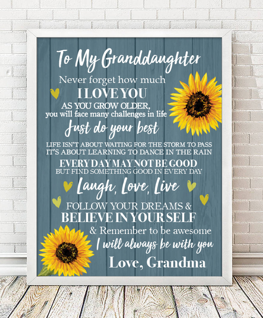 Granddaughter Keepsake Print - Hypolita Co.