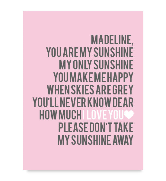 You are My Sunshine Print - Hypolita Co.