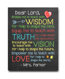 Teacher Prayer Print - Hypolita Co.
