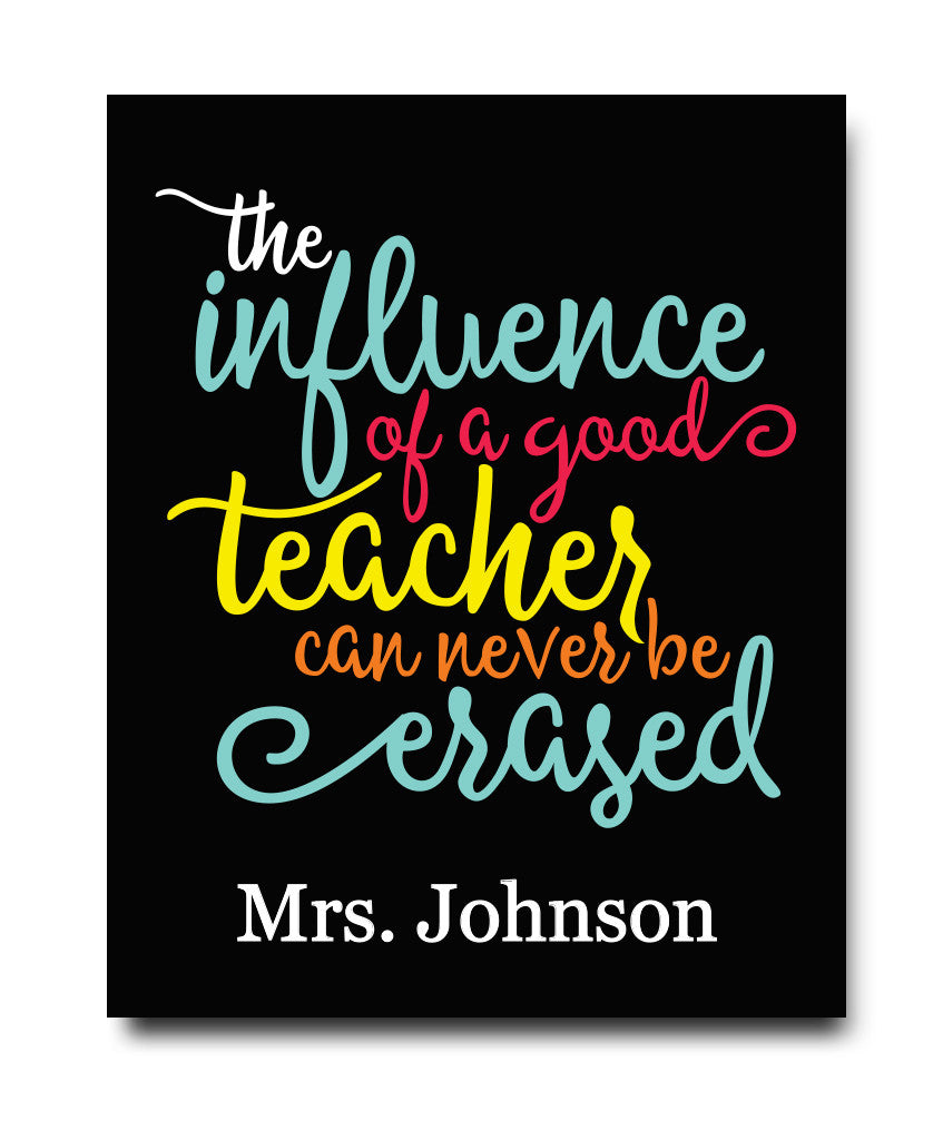 Influence of a Teacher Print - Hypolita Co.