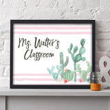 Cactus Teacher Print - Hypolita Co.