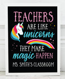 Teacher Unicorn Print - Hypolita Co.