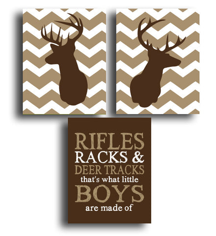 Deer & Rifle Three Print Set - Hypolita Co.