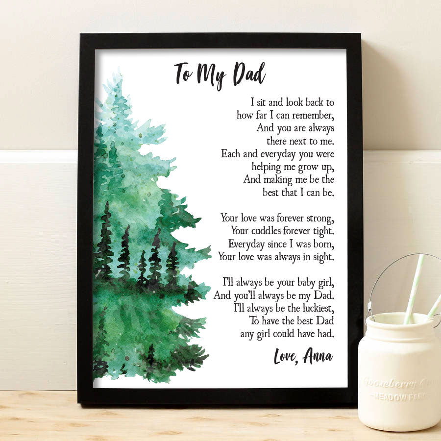 To My Dad Print