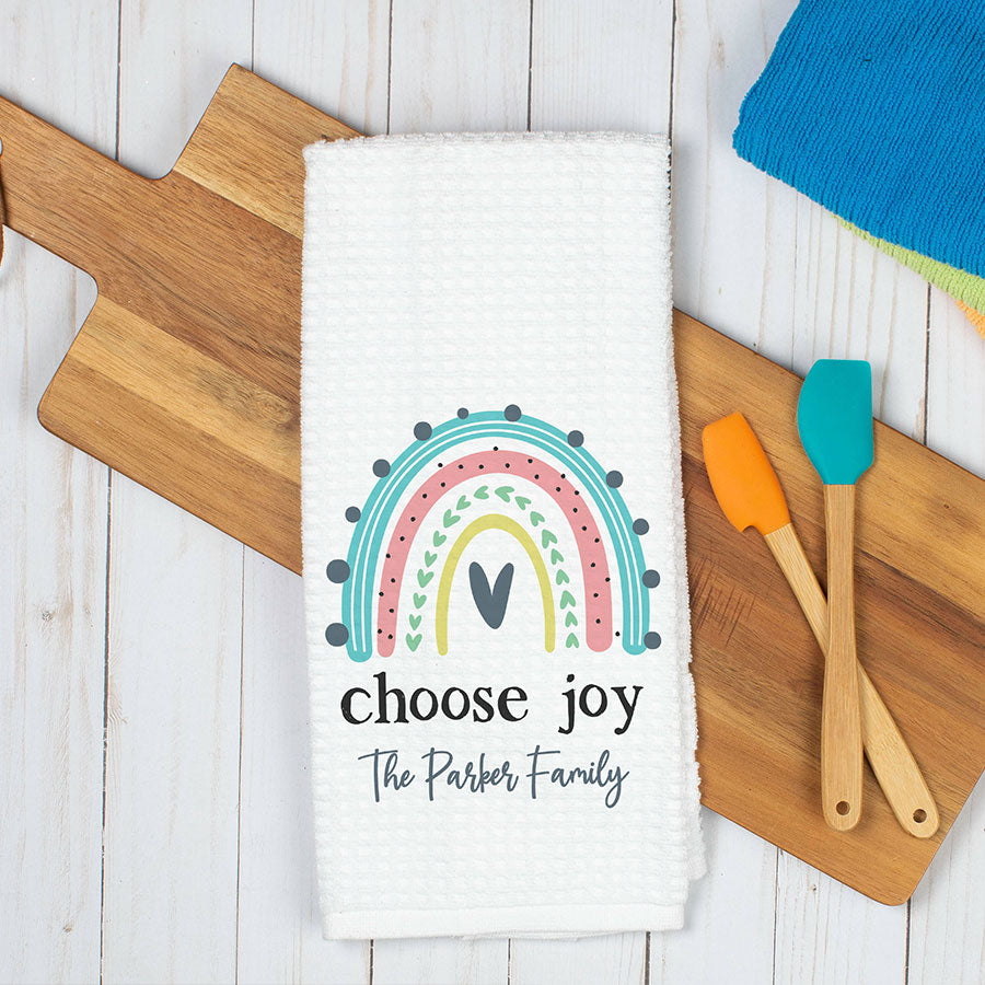 Choose Joy Personalized Dish Towel