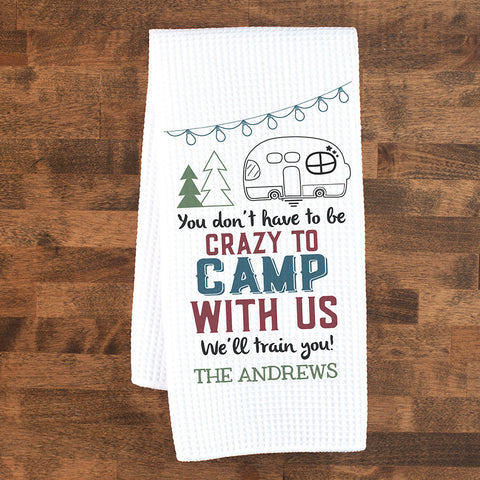 Personalized Camping Dish Towel | Custom Kitchen Towel