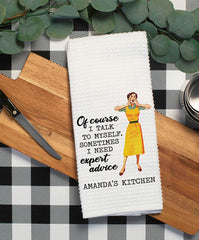 Expert Advice Witty Dish Towel - Hypolita Co.