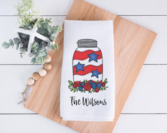 Fourth of July Personalized Dish Towel