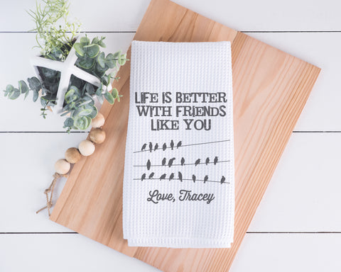 Friends Like You Personalized Dish Towel