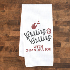 Grilling and Chilling Personalized Towel
