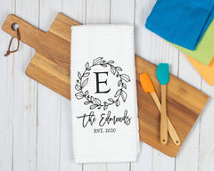 Personalized Monogram Dish Towel