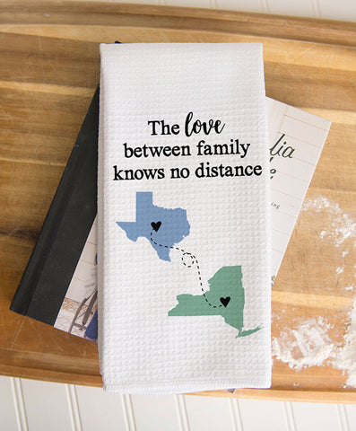 Two State Waffle Weave Dish Towel
