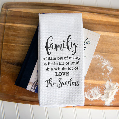 Whole Lot to Love Personalized Dish Towel