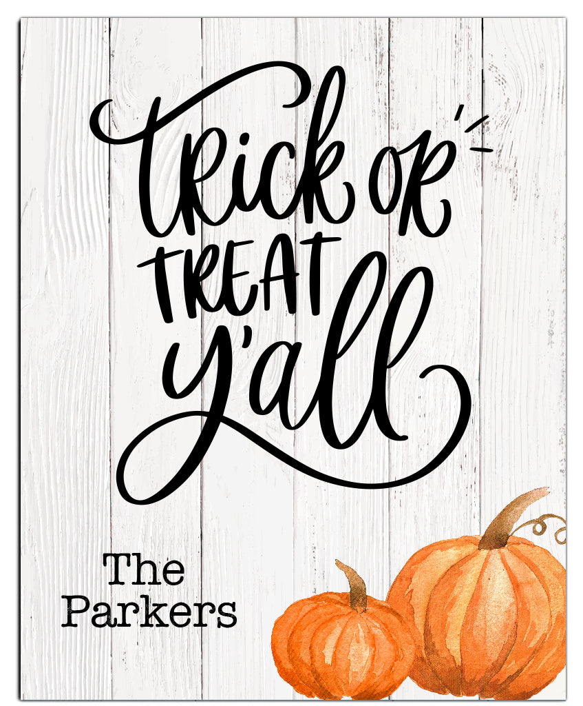 Trick or Treat Y'all Halloween Print - Hypolita Co.
