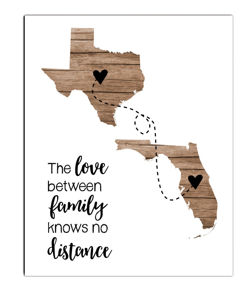 Two State Family Print - Hypolita Co.