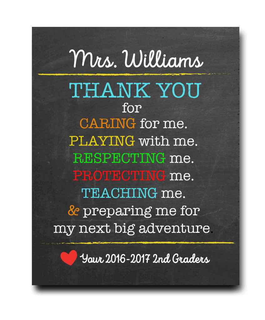 Thank You Teacher Print - Hypolita Co.