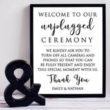 Unplugged Wedding Print - Hypolita Co.