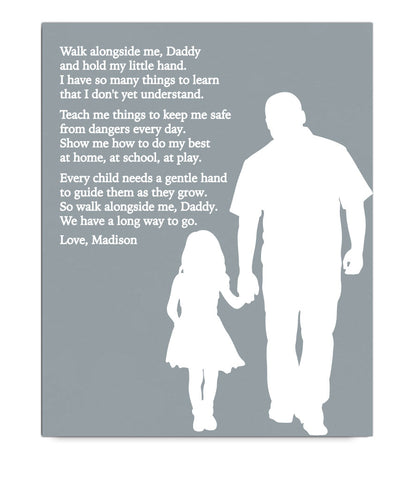 Dad & Daughter Poem Print