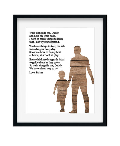 Dad & Son Poem Print