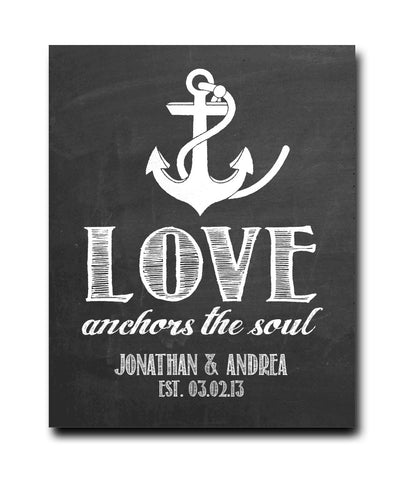 Love Anchors the Soul Print - Hypolita Co.