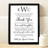 Wedding Thank You Print - Hypolita Co.