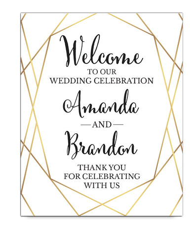 Gold Wedding Welcome Print - Hypolita Co.
