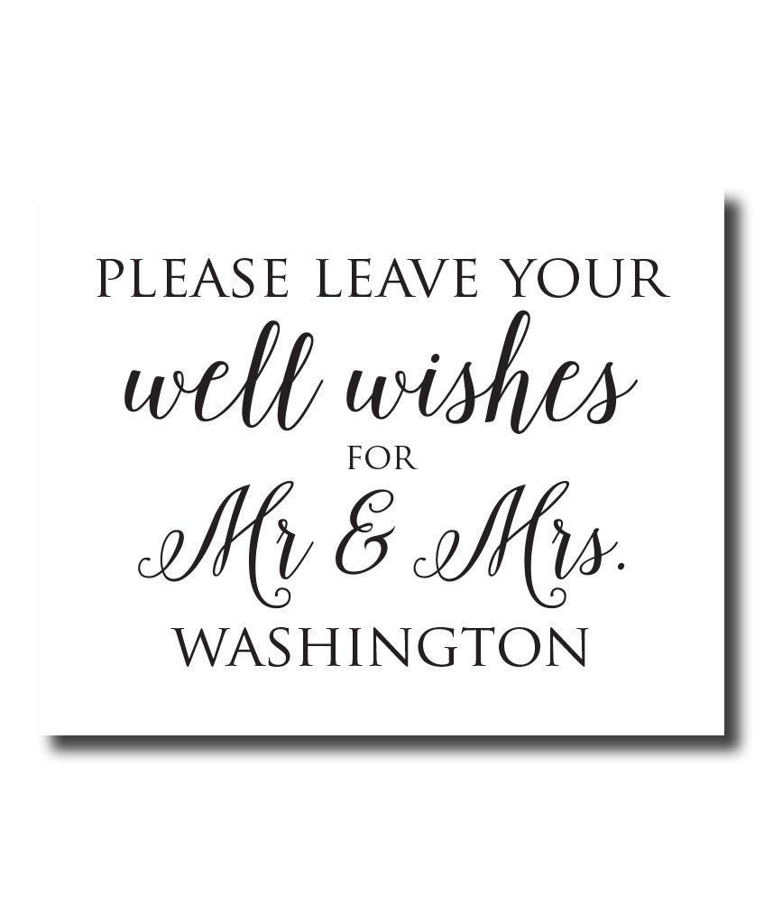 Well Wishes Wedding Print