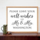 Well Wishes Wedding Print - Hypolita Co.