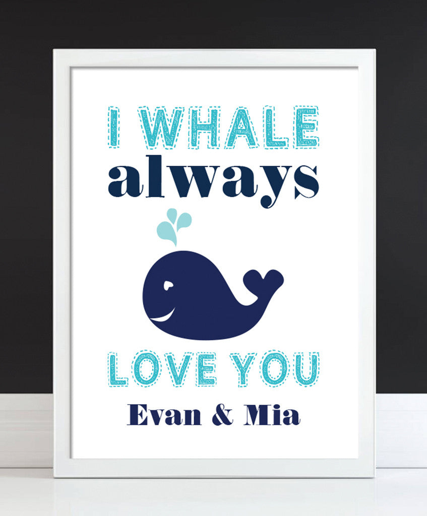 Whale Bathroom Print - Hypolita Co.