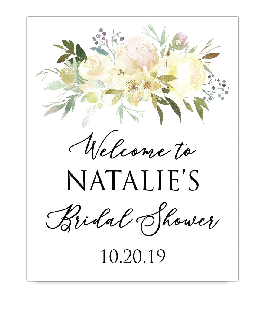 Bridal Shower Welcome Print - Hypolita Co.