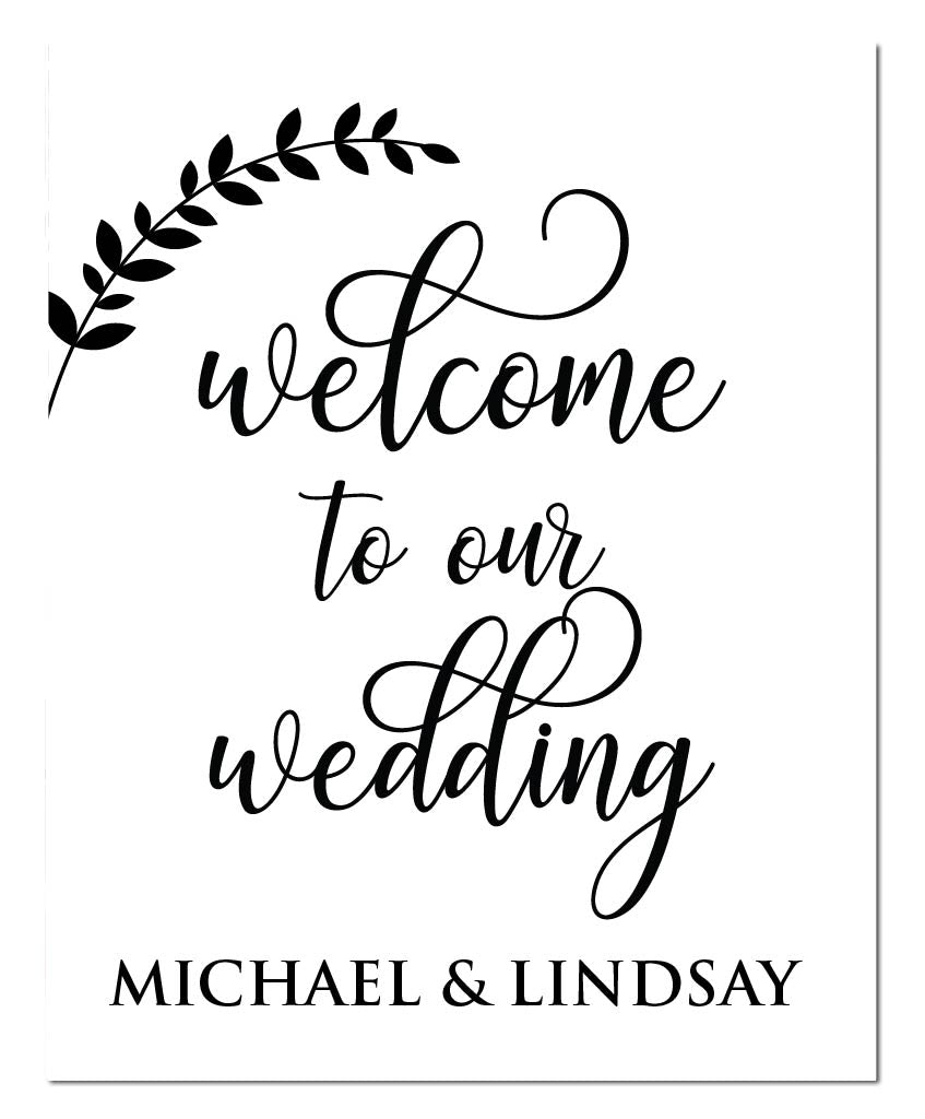 Wedding Welcome Swirl Print - Hypolita Co.