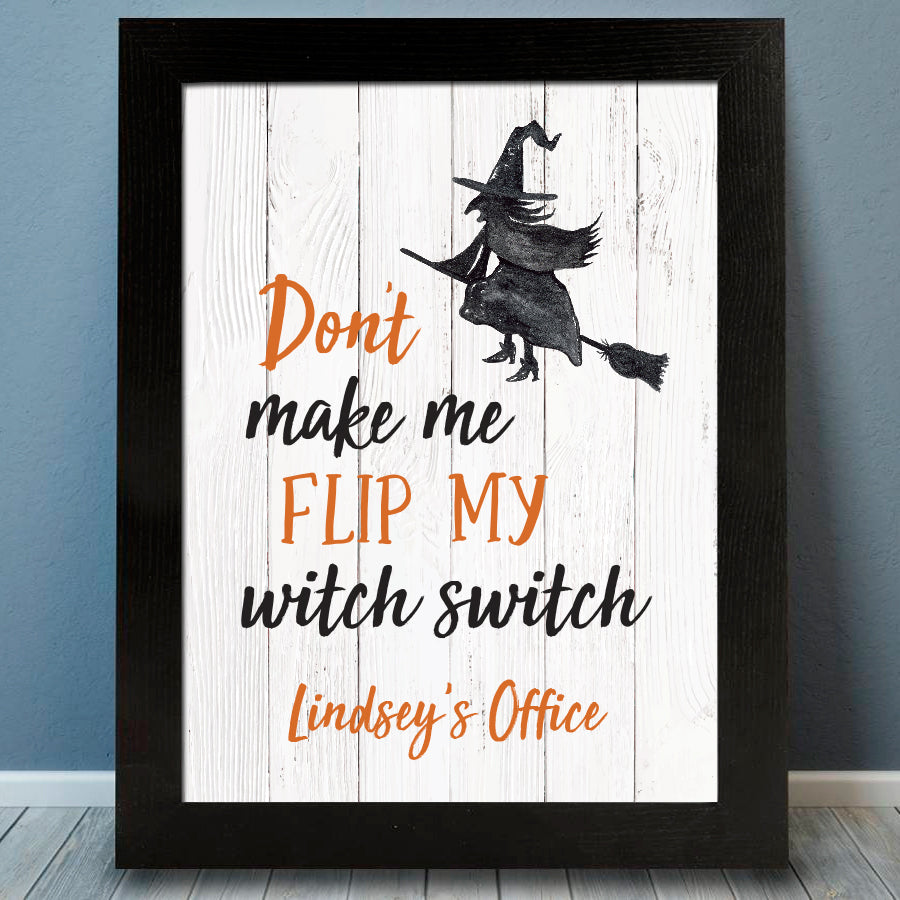 Witch Switch Halloween Print - Hypolita Co.