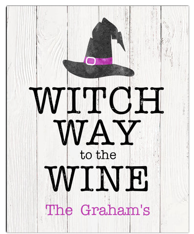 Witch Way to the Wine Halloween Print - Hypolita Co.