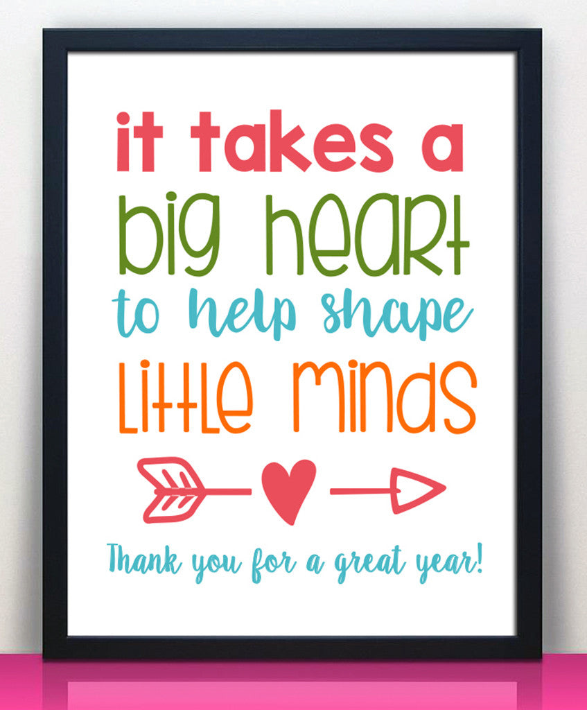 Teacher Appreciation Print - Instant Download