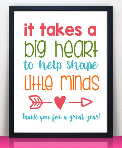 Teacher Appreciation Print - Instant Download - Hypolita Co.