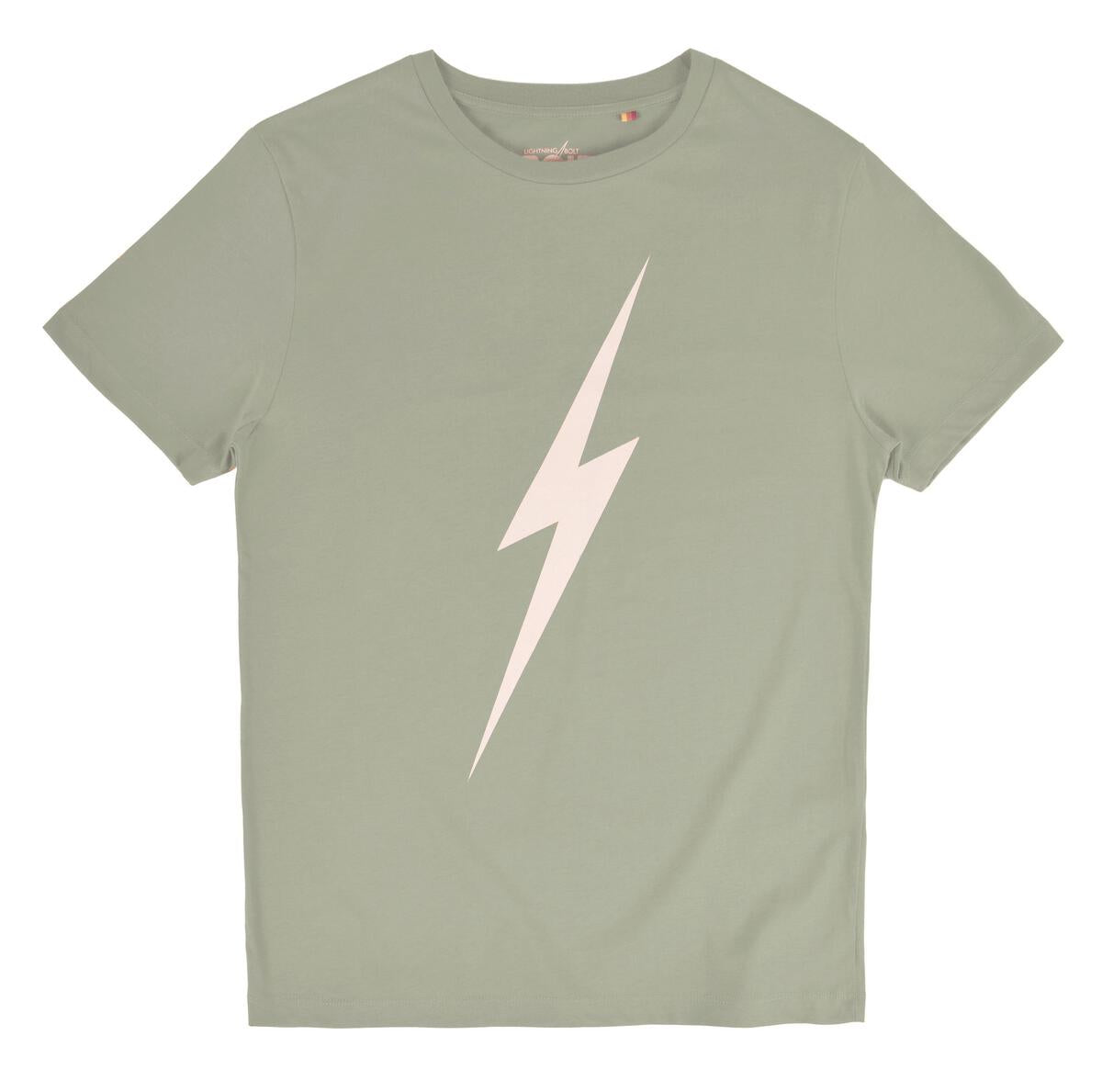 Lightning Bolt Forever T-shirt - Laurel Green
