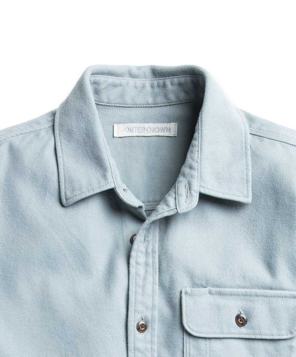Outerknown Rambler Shirt - Ash Blue