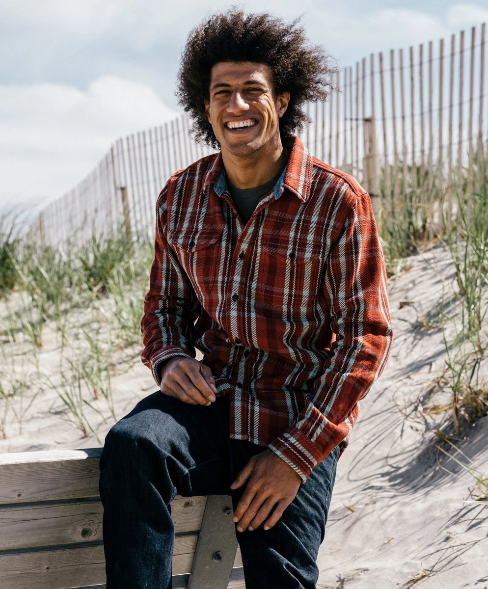 Outerknown Blanket Shirt - Paprika Ventana Plaid