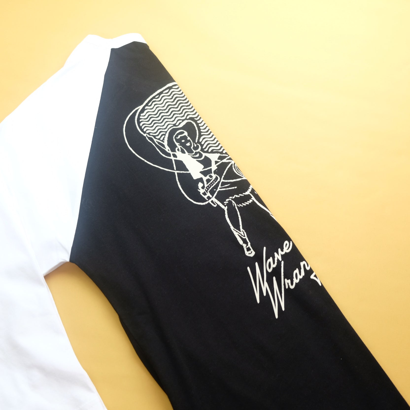 Hoy Wave Wranglers Baseball Tee - Black / White