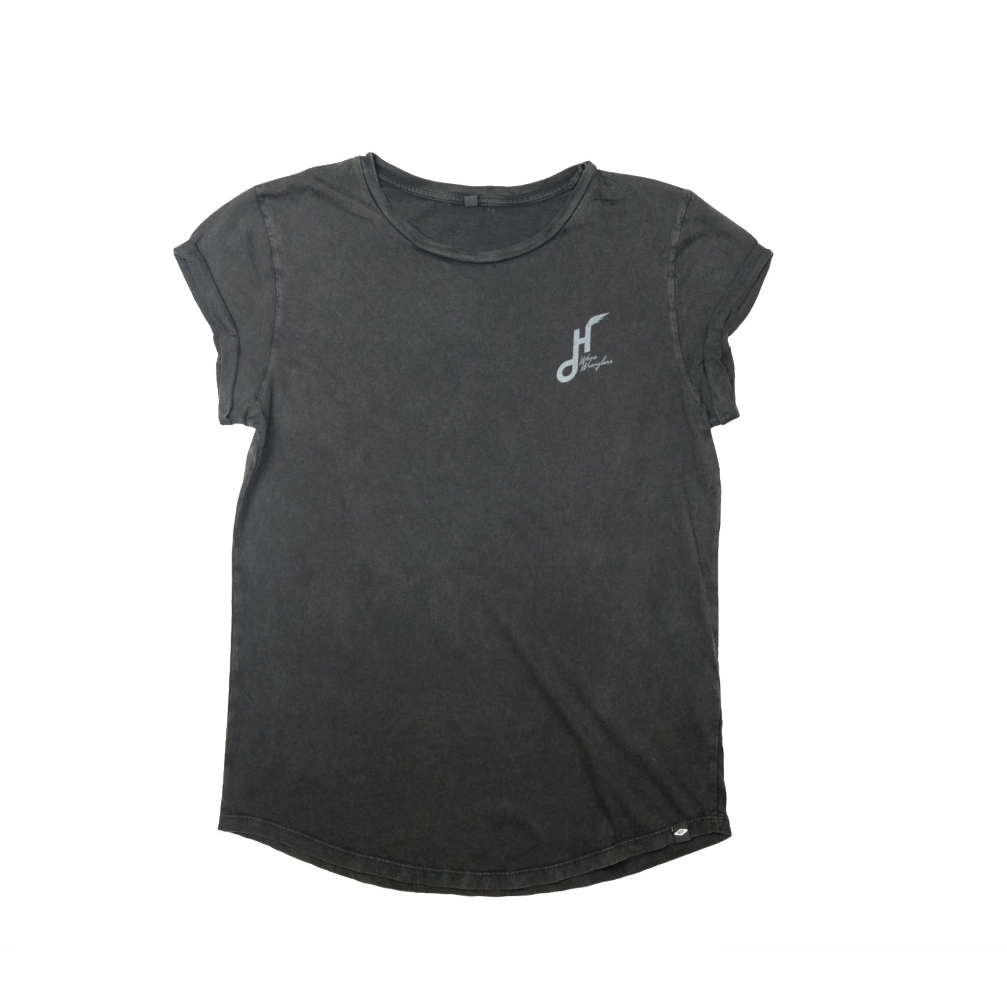 Women's Hoy Wave Wranglers Organic T-shirt - Dusty Black