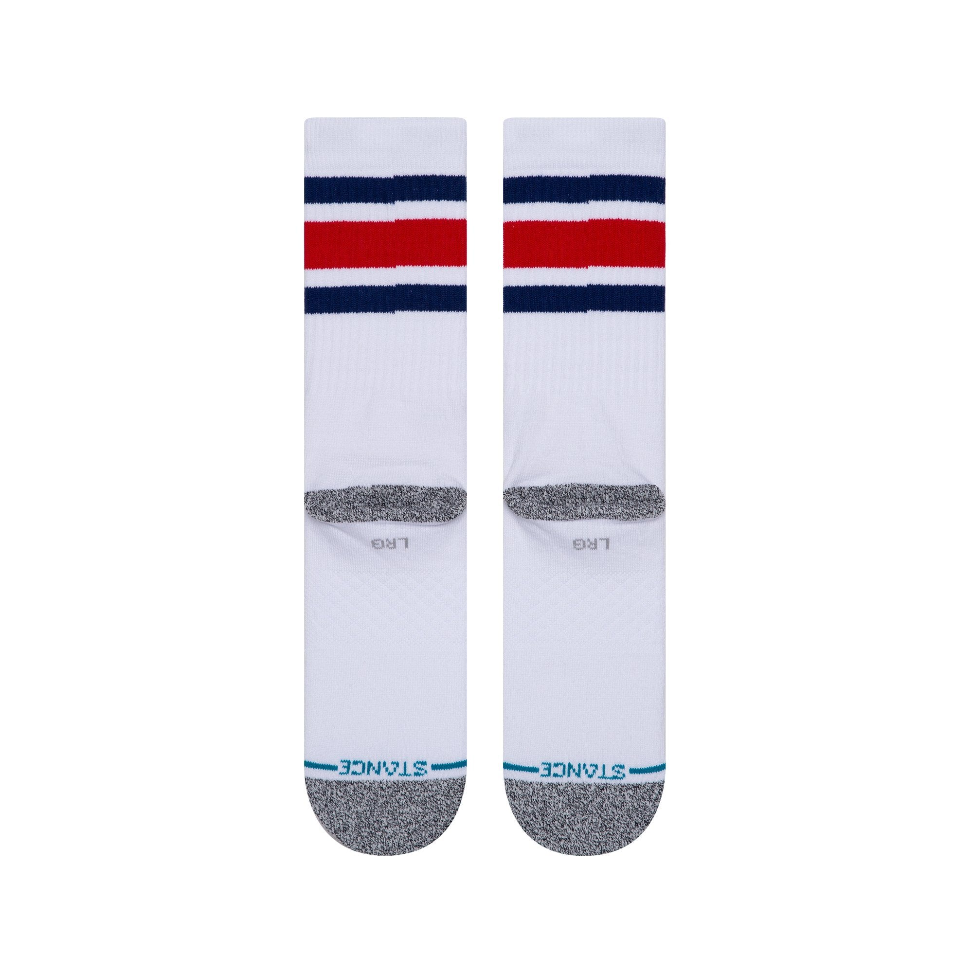 Stance Boyd Staple Crew Socks - White / Blue
